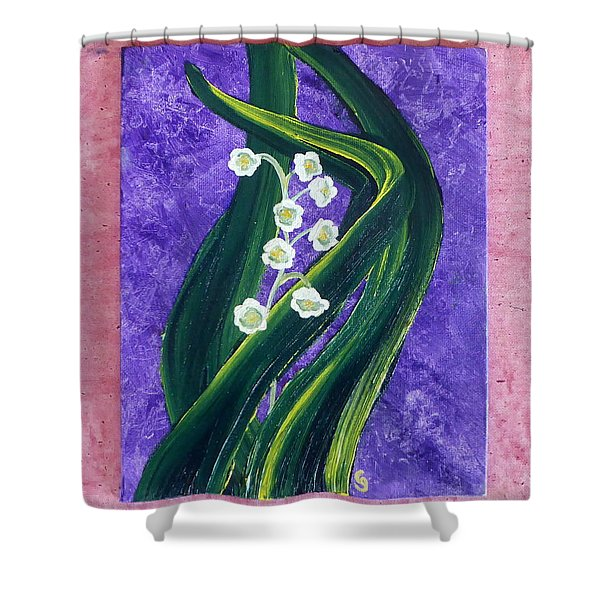 Escaping Winter Lilly Of The Valley Shower Curtain