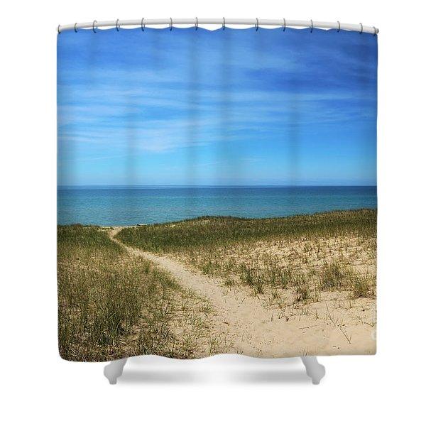 Esch Beach Shower Curtain