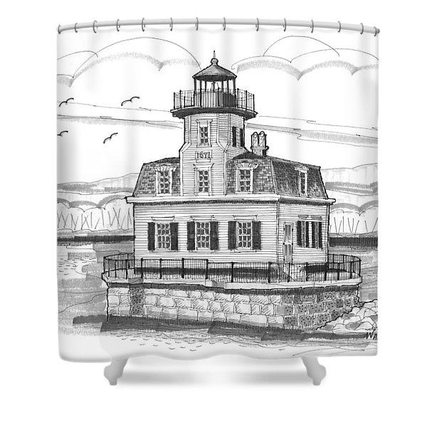 Esopus Meadows Lighthouse Shower Curtain