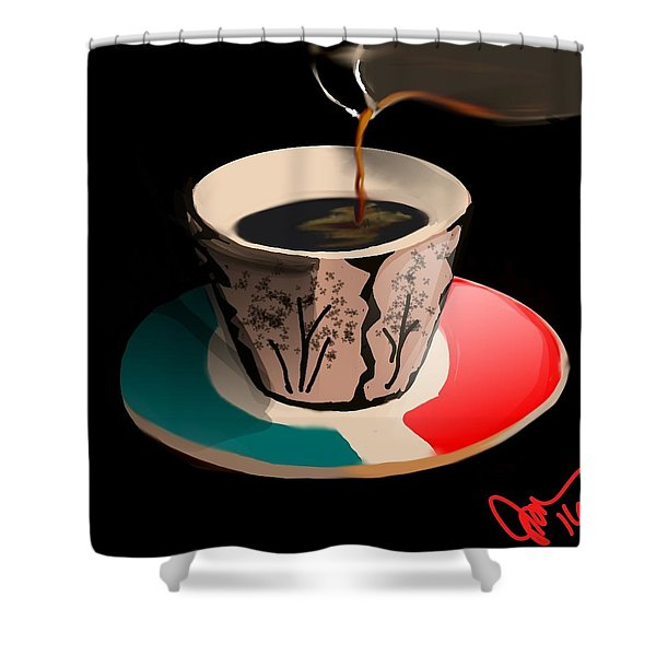 Espresso Shower Curtain