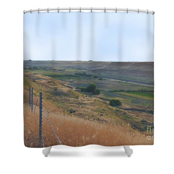 Shower Curtain featuring the photograph Esquatzel Coulee by Charles Robinson