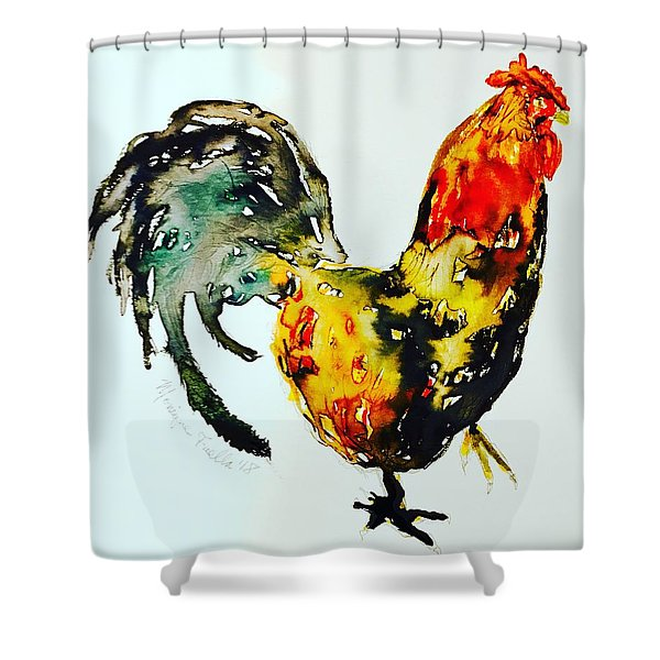 Essence Of Rooster Shower Curtain