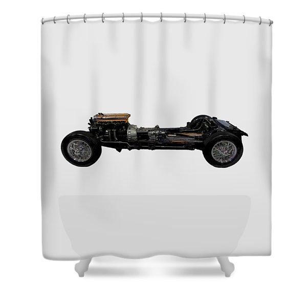 Essential Motor Art Shower Curtain