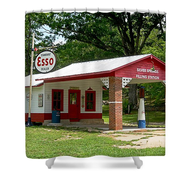 Esso Station Shower Curtain