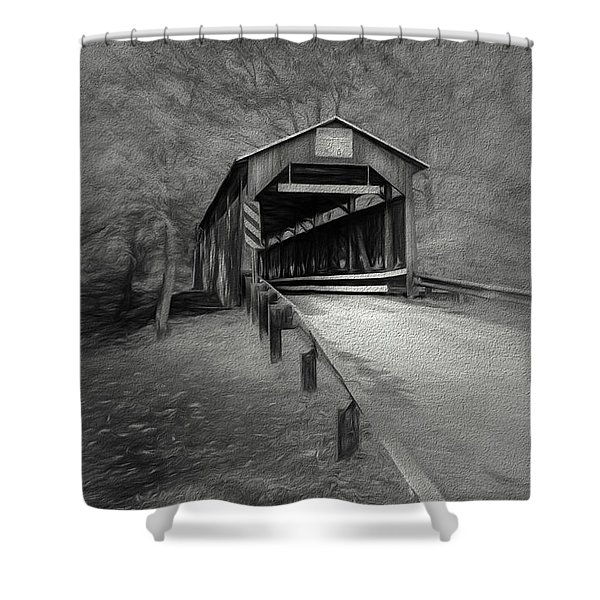Esther Furnace No 8 Shower Curtain