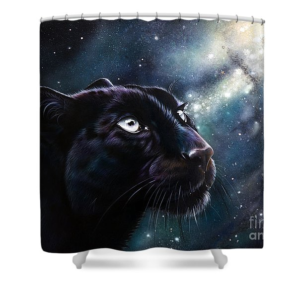 Shower Curtain featuring the painting Eternal by Sandi Baker