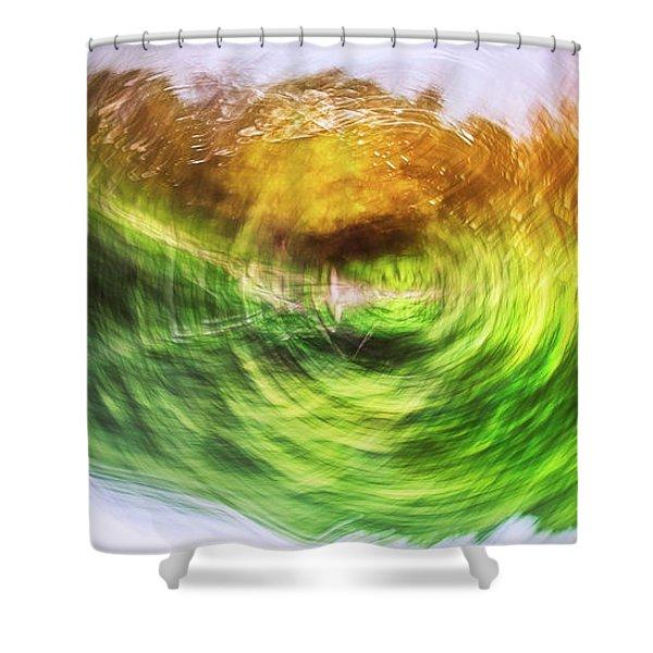 Eternally Spinning Shower Curtain
