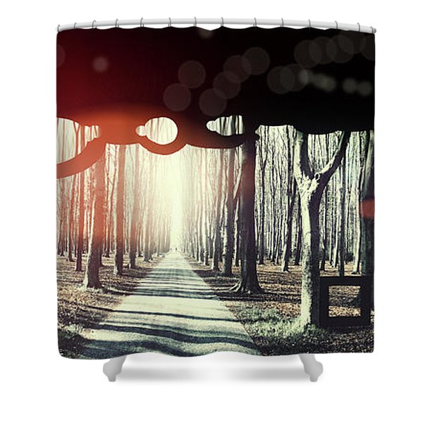 Eternity, Conceptual Background Shower Curtain