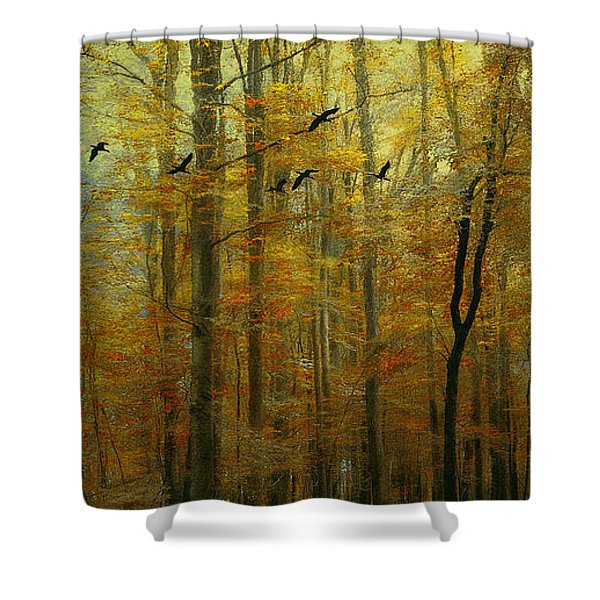 Ethereal Autumn Shower Curtain