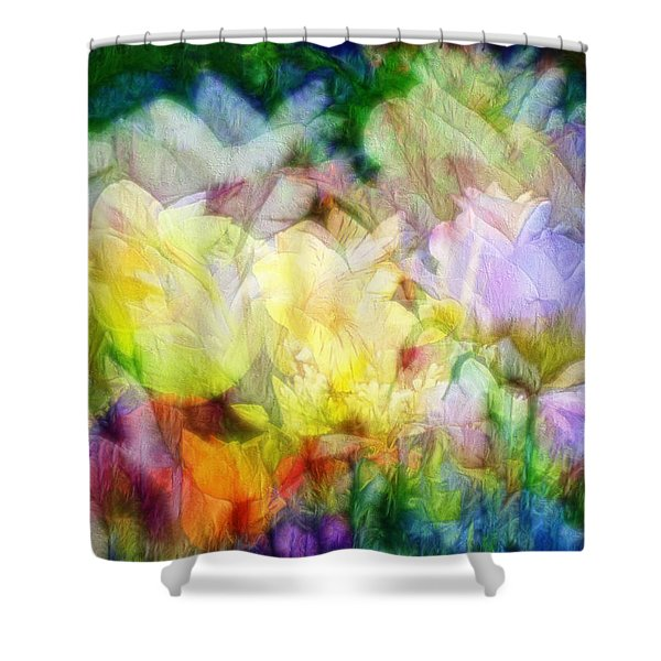 Ethereal Flowers Shower Curtain