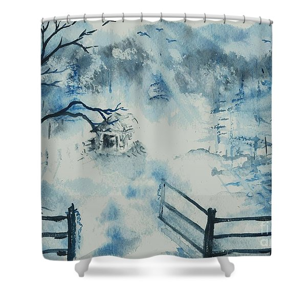 Ethereal Morning  Shower Curtain