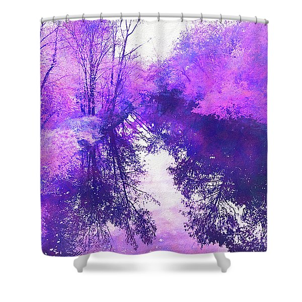 Ethereal Water Color Blossom Shower Curtain