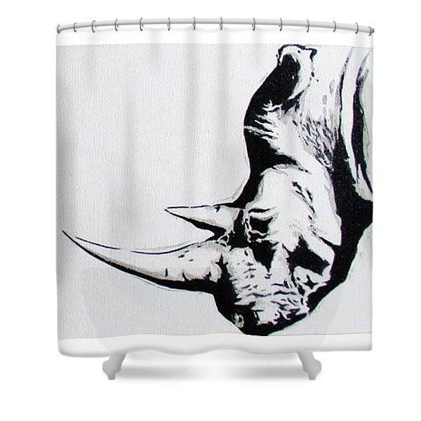 Ethnic Rhino Shower Curtain