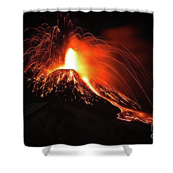Italy, Sicily,etna Shower Curtain