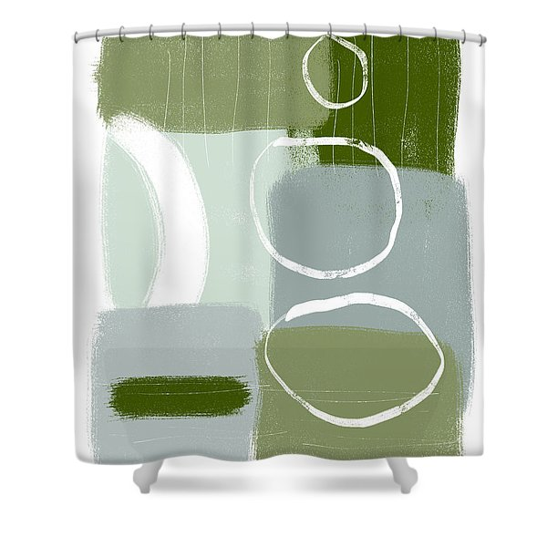 Eucalyptus Breeze  2- Art By Linda Woods Shower Curtain