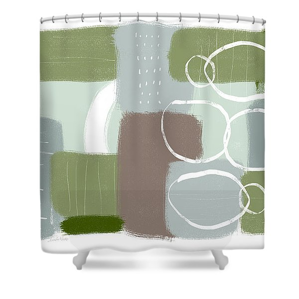 Eucalyptus Breeze 3- Art By Linda Woods Shower Curtain