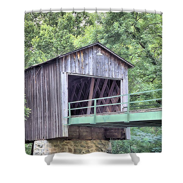 Euharlee Creek Covered Bridge Shower Curtain