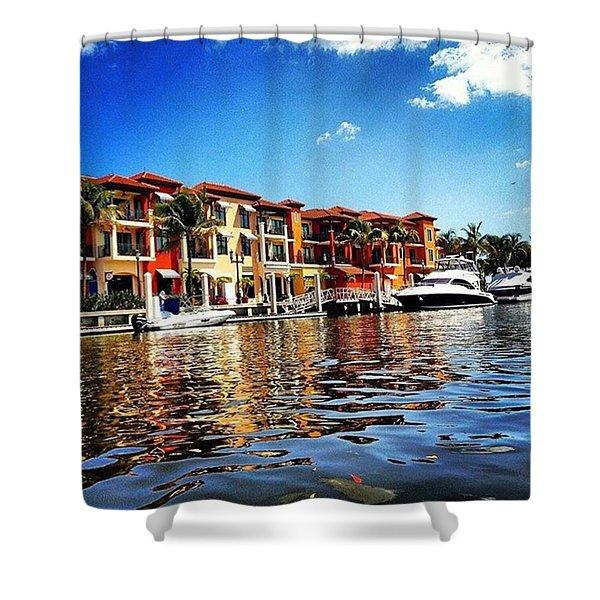 Kayaking At Naples Bay Resort Shower Curtain