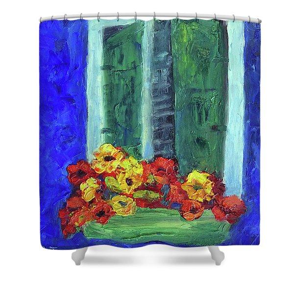 European Window Box Shower Curtain