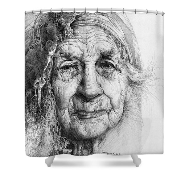Eve. Series Forefathers Shower Curtain