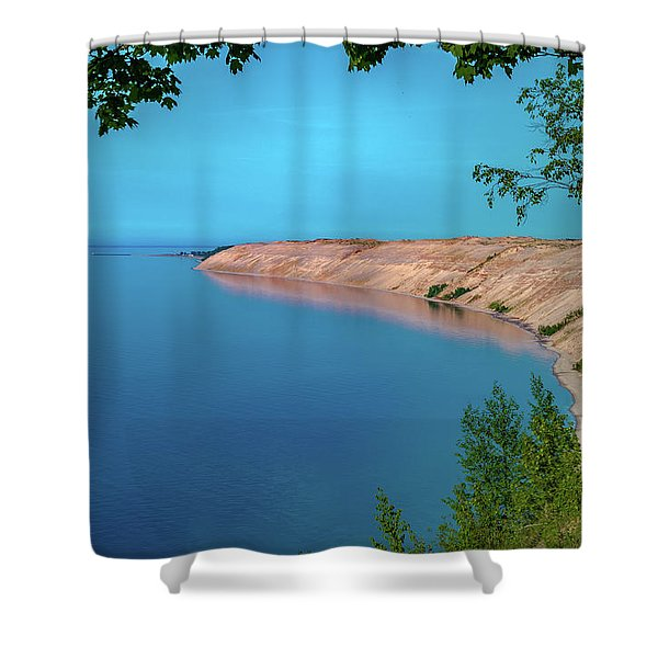 Eveing Light On Grand Sable Banks Shower Curtain