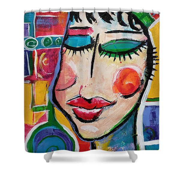 Evelyn - Vivid Vixen 5 Shower Curtain