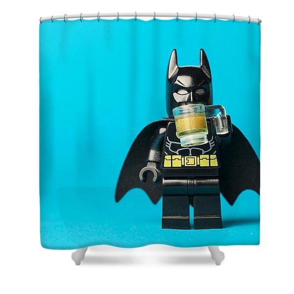 Even Batman Needs A Beer Shower Curtain