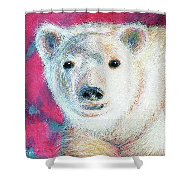 Even Polar Bears Love Pink Shower Curtain