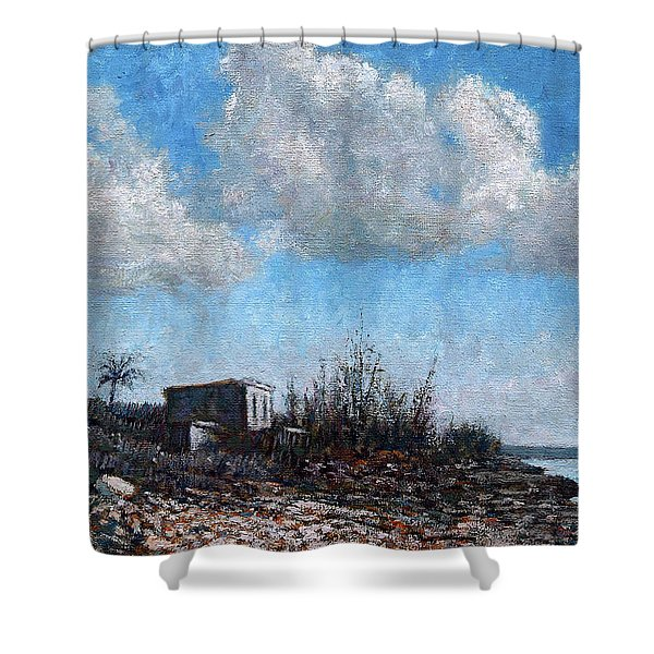 Evening At Current Ridge Shower Curtain
