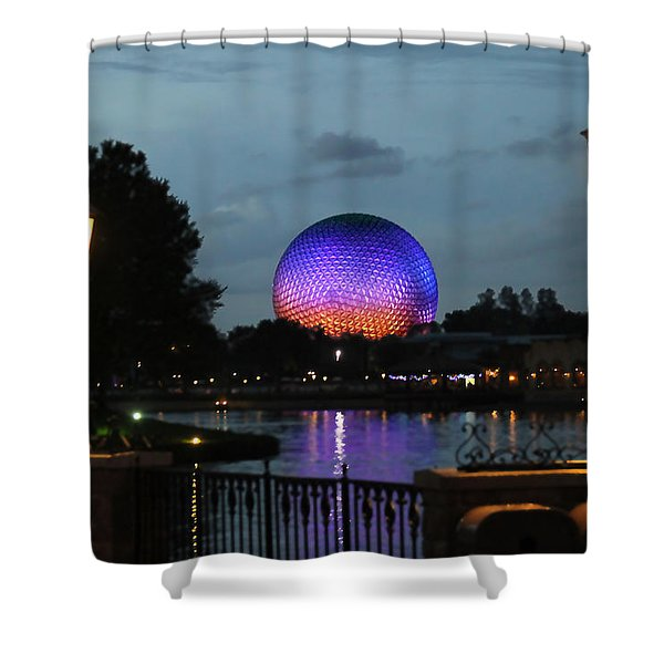 Evening At Epcot Shower Curtain