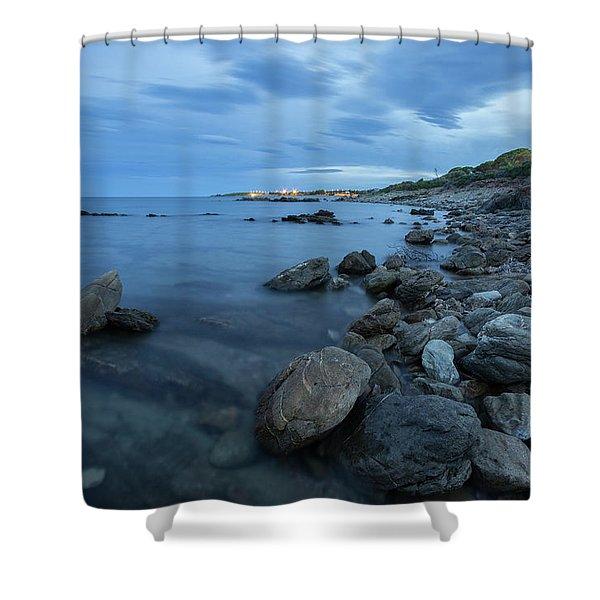 Evening Beach Shower Curtain