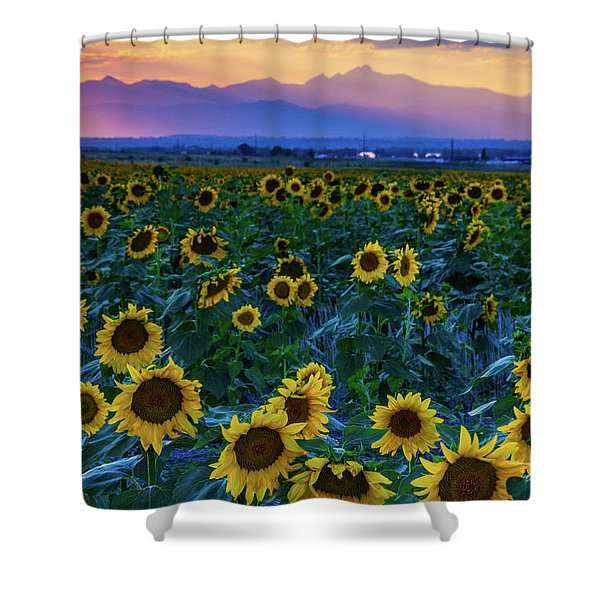 Shower Curtain featuring the photograph Evening Colors Of Summer by John De Bord