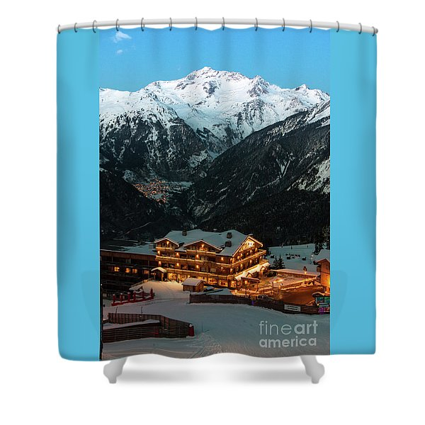 Evening Comes In Courchevel Shower Curtain