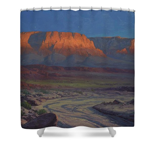 Evening Comes To Marble Canyon Shower Curtain