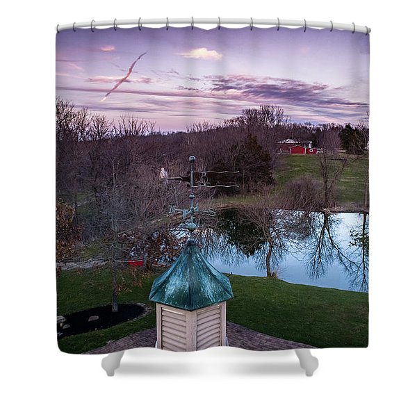 Evening Dove Shower Curtain