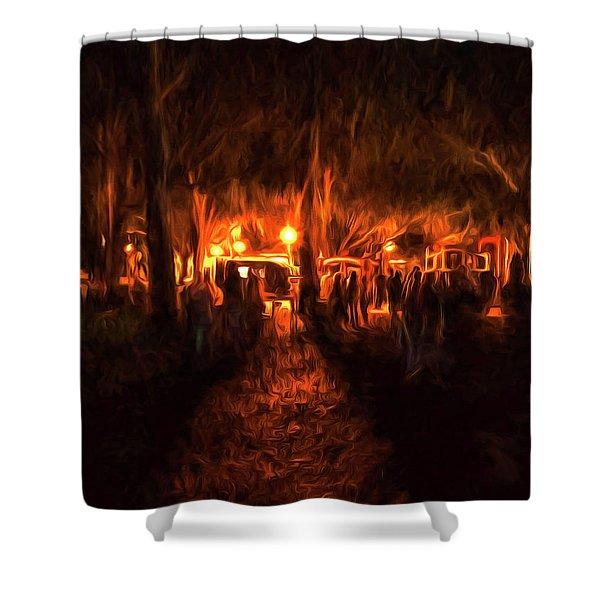 Evening Gathering Shower Curtain