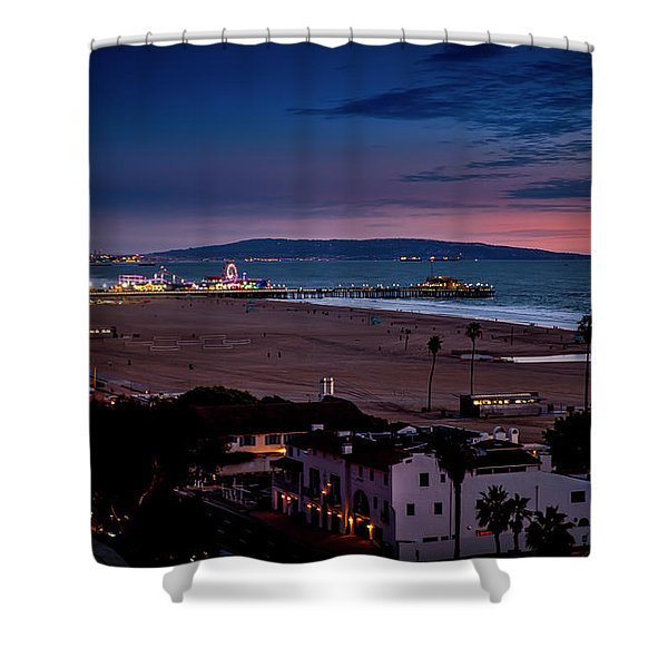 Evening Glow On The Pier Shower Curtain