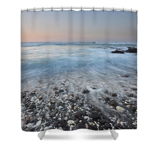 Evening Glow Over Coral And Lava Rock Shores Of Puako Shower Curtain
