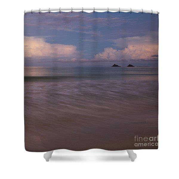 Evening Glow Over Mokulua Islands Shower Curtain