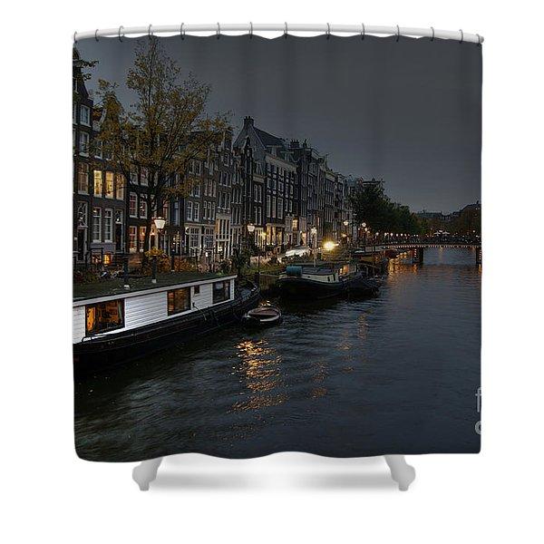 Evening In Amsterdam Shower Curtain