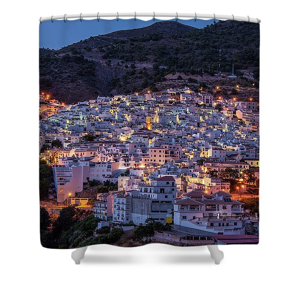 Evening In Competa Shower Curtain
