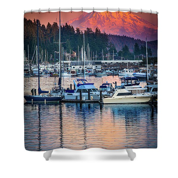 Evening In Gig Harbor Shower Curtain