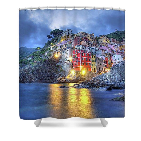 Evening In Riomaggiore Shower Curtain