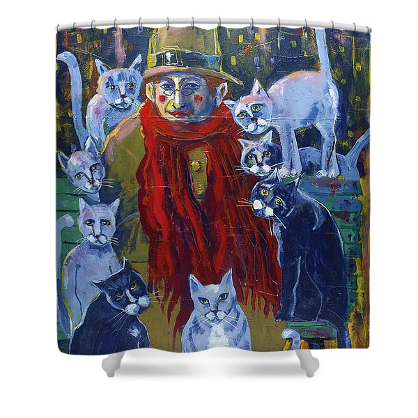 Evening In The Park Shower Curtain