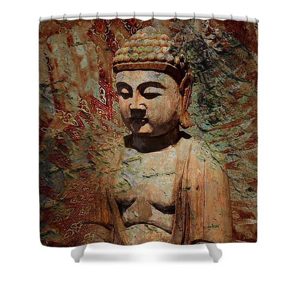 Shower Curtain featuring the painting Evening Meditation by Christopher Beikmann