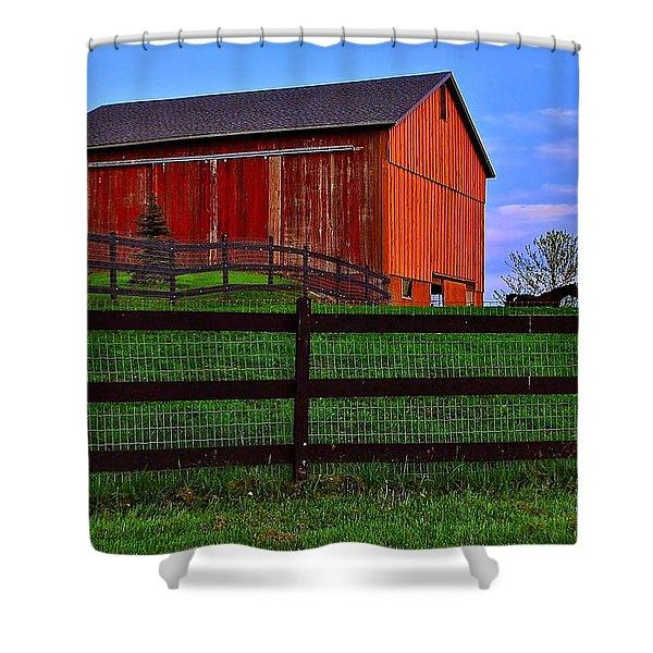 Evening On The Farm Shower Curtain