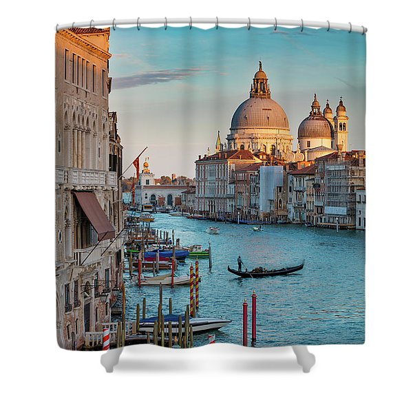 Evening Over Venice Shower Curtain