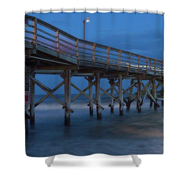 Evening Pier Shower Curtain