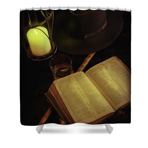 Evening Reading Shower Curtain