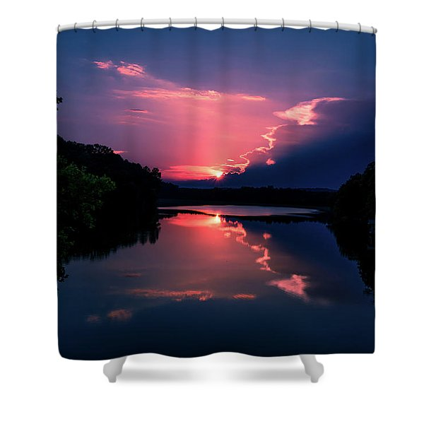 Evening Reflection Shower Curtain